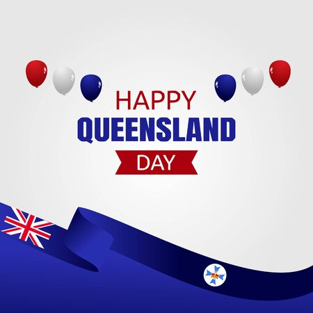 Happy Queensland Day Vector Illustration