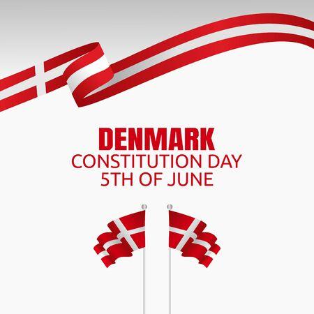 Happy constitution day of Denmark Vector Illustration