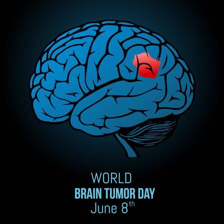 World Brain Tumor Day Vector Illustration Vecteurs