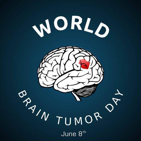 World Brain Tumor Day Vector Illustration