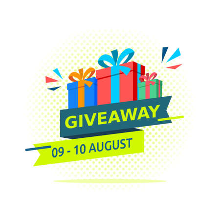 Vector of Giveaway Design Template