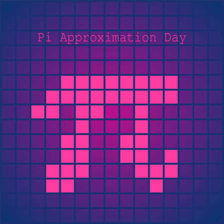 Pi Approximation Day Vector Illustration