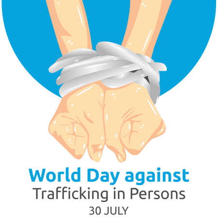 World Day against Trafficking in Persons Vector Illustration