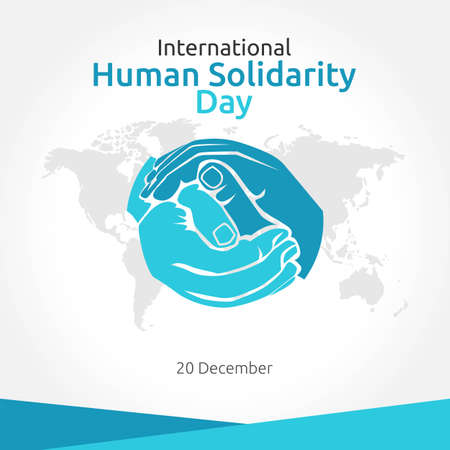 International Human Solidarity Day Vector Illustration. Suitable for greeting card poster and banner.