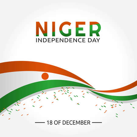 Niger Independence Day Vector Illustration. Suitable for greeting card poster and banner Vector Illustration