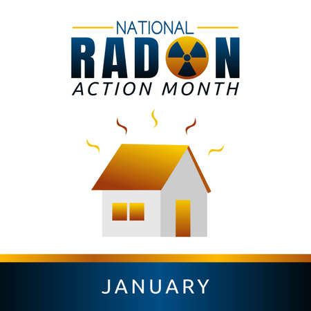 National Radon Action Month Vector Illustration. Suitable for greeting card poster and banner Vector Illustration