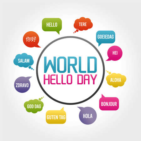 World Hello Day Vector Illustration. Suitable for greeting card poster and banner