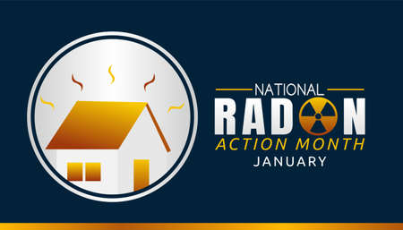 National Radon Action Month Vector Illustration. Suitable for greeting card poster and banner