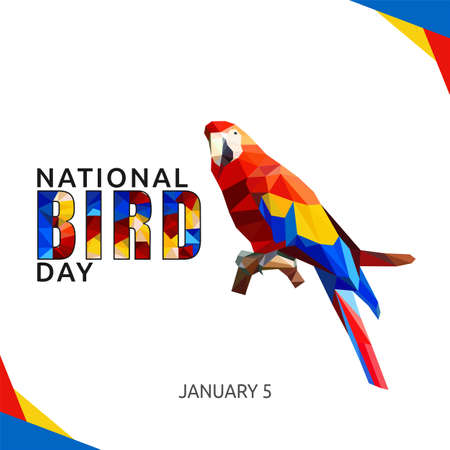 National Bird Day Vector Illustration. Suitable for greeting card poster and banner