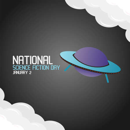 National Science Fiction Day Vector Illustration. Suitable for greeting card poster and banner