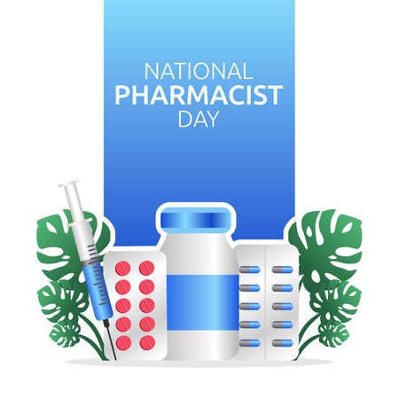 National Pharmacist Day Vector Illustration. Suitable for greeting card poster and banner