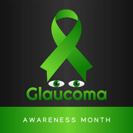 Glaucoma Awareness Month Vector Illustration. Suitable for greeting card poster and banner