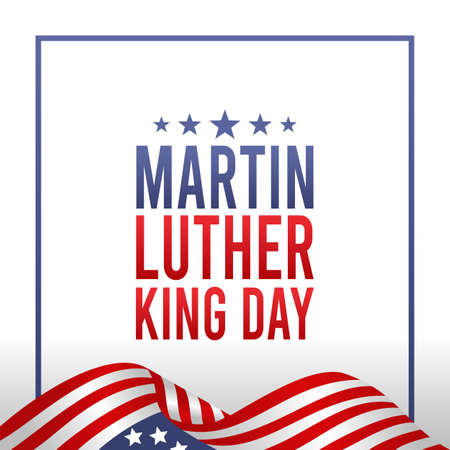 Martin Luther King Day Vector Illustration. Suitable for greeting card poster and banner Vektorgrafik