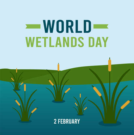World Wetlands Day Vector Illustration. Suitable for greeting card poster and banner
