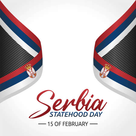 Serbia Statehood Day Vector Illustration. Suitable for greeting card poster and banner Vektorové ilustrace