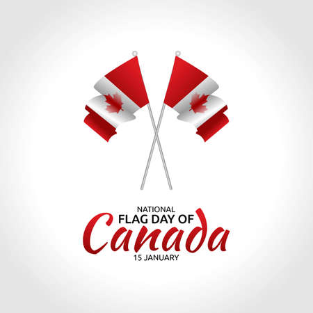 National Flag Day of Canada Vector Illustration. Suitable for greeting card poster and banner