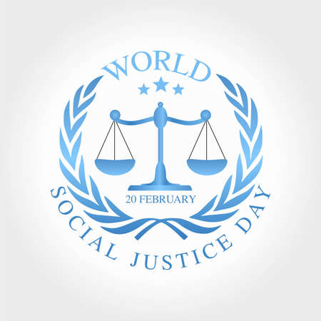 World Social Justice Day Vector Illustration. Suitable for Greeting Card, Poster and Banner.