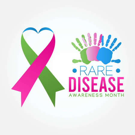 Rare Disease Awareness Month Vector Illustration. Suitable for Greeting Card, Poster and Banner.