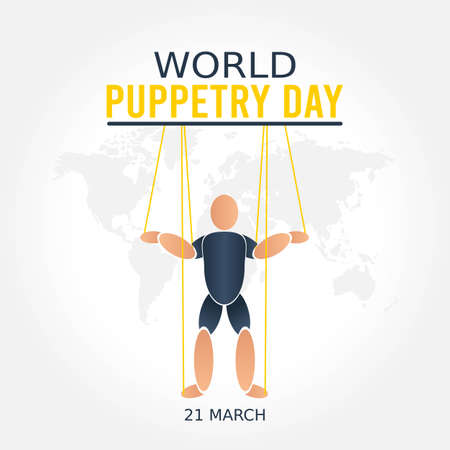 World Puppetry Day Vector Illustration. Suitable for greeting card poster and banner. Ilustración de vector