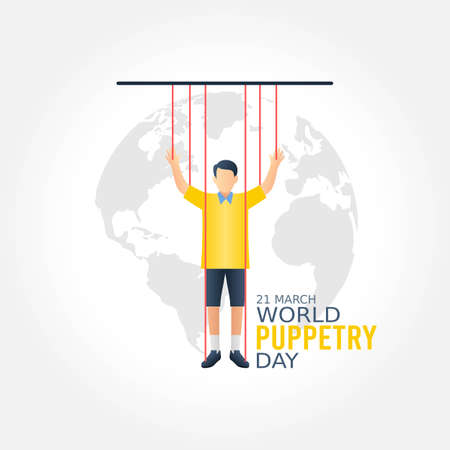 World Puppetry Day Vector Illustration. Suitable for greeting card poster and banner.