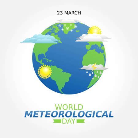 World Meteorological Day Vector Illustration. Suitable for greeting card poster and banner.