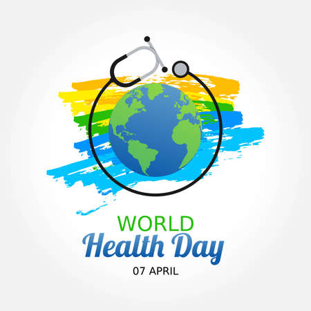 World Health Day Vector Illustration. Suitable for greeting card poster and banner.