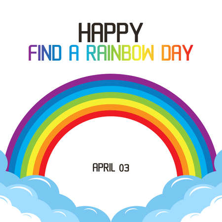 Happy Find A Rainbow Day Vector Illustration. Suitable for greeting card poster and banner. Ilustracja