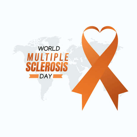 World Multiple Sclerosis Day Vector Illustration. Suitable for greeting card poster and banner.