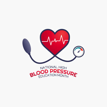 National High Blood Pressure Education Month Vector Illustration. Suitable for greeting card poster and banner.