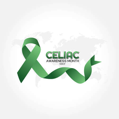Celiac Awareness Month Vector Illustration. Suitable for greeting card poster and banner.