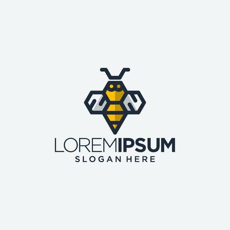 bee wasp bug bumble logo