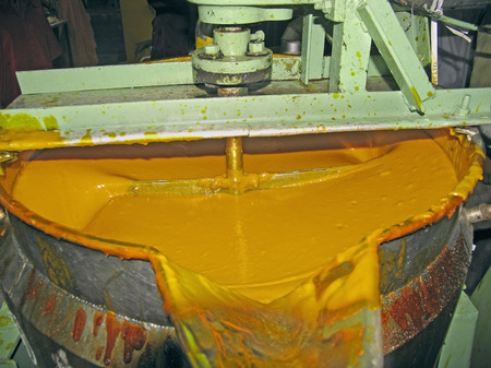 Mango-processing factory, where mangoes are processed to prepare drinks, juices, jellies, pulp, Ratnagiri, India photo