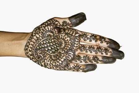 Mehndi (henna hand painting), India Stock Photo - 27199228