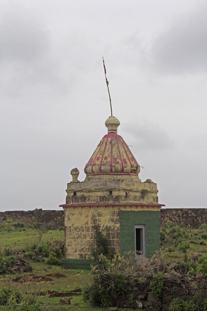 Lord Malhar temple, Malhargad, Sonori Fort, hill fort near Sasvad, Pune, Maharashtra, India. photo