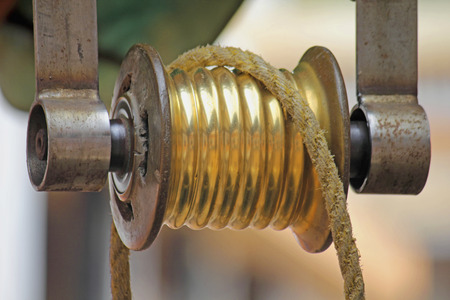 Rahate, a pulley used for drawing water out of a well in a traditional way, Goa, India photo