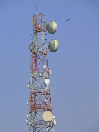 A mobile company signal receiving tower, Pune, Maharashtra, India photo