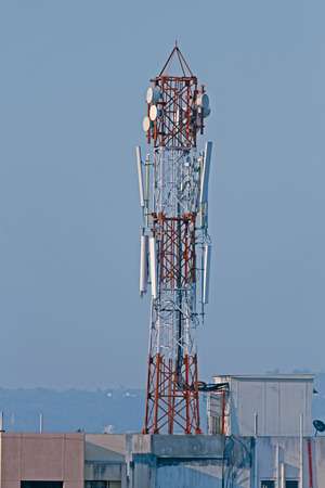 A mobile company tower, Pune, Maharashtra, India photo