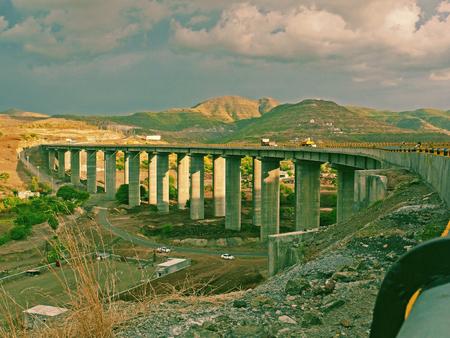 A very tall bridge on Katraj-Pune Highway. Pune, Maharashtra, India
