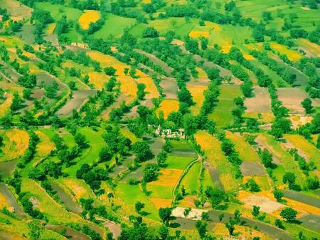 maharashtra: Sahyadri Valley with village, Panchgani, Satara, Maharashtra, India