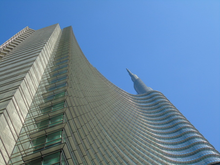 Amazing view of the skyscraper from Milan