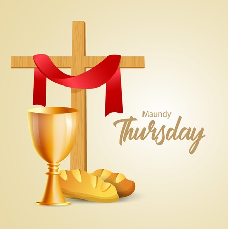 Maundy Thursday vector illustration