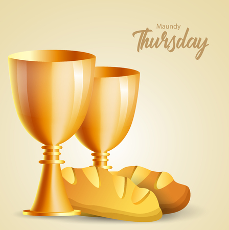 Maundy Thursday vector illustration Ilustração Vetorial