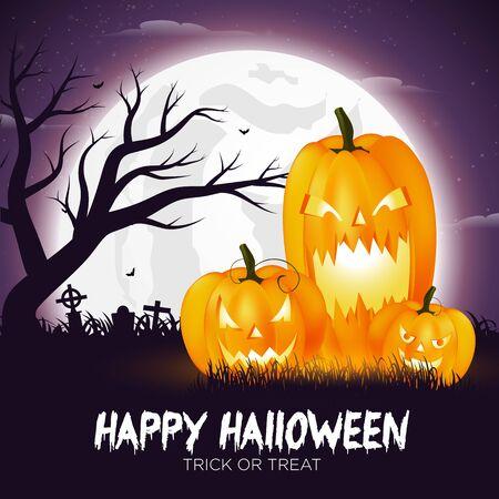 Happy Halloween Pumpkin Background Vector 向量圖像