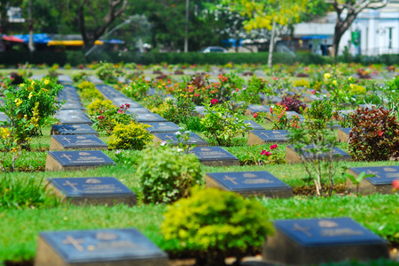 depress: graveyard of die military world war two in kanchanaburi thailand so sad and depress