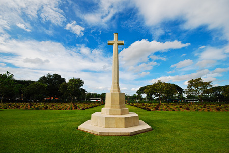 world war two: the monument of cross show peace after world war two Stock Photo