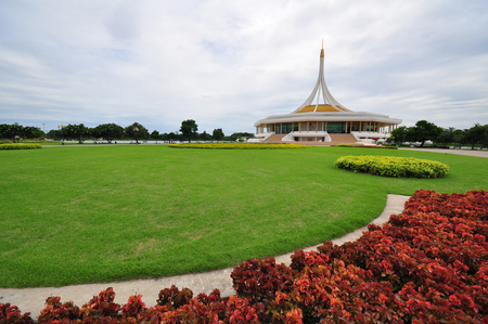 king of thailand: the monument of king thailand in bangkok