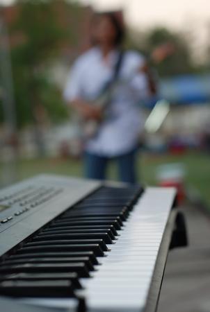 closeup on the piano