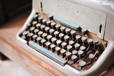 the old retro vintage type writer so classic manual machine technology for print paper in the past business