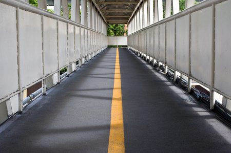 the flyover is build for people walk cross over above road so safety and easy