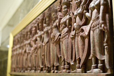 the art of carve in angkor style of asia is the architecture ancient of hinduism